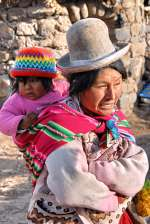 Lady and Child in Peru